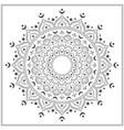 islamic mandala for coloring vector image vector image