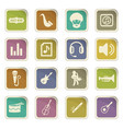jazz and blues icons set vector image vector image