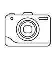 line icon photo camera vector image vector image