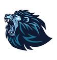 lion head roaring logo vector image