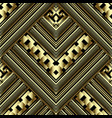 luxury gold 3d geometric seamless pattern ornate vector image vector image