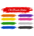 many color of oil brush strokes vector image vector image
