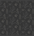 monochrome floral pattern background vector image vector image