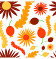 nature flower wreath seamless pattern vector image vector image