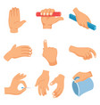 of hand gestures vector image