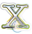 Organic Font letter x vector image vector image