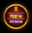 Premium quality label design vector image
