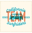 Retro Print Style Surfing Label or Logo vector image vector image