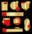 retro vintage golden labels and banners collection vector image vector image