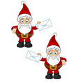 Santa Claus Holding Letter vector image vector image