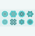 set arabic geometric decorative elements vector image