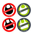 set of no plastic bag icons isolated on white vector image