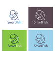 Smart fish logo template set