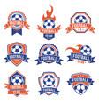 soccer club emblem football badge shield logo vector image vector image