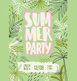 summer party poster template beach vector image vector image