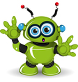 Surprised Robot vector image vector image
