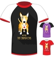 T-shirt with Bull Terrier dog champion vector image vector image