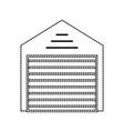 uncolored storage sticker vector image