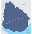 uruguay region map vector image vector image