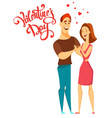 valentines day couple in love vector image vector image