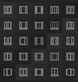 windows line icons collection window vector image vector image