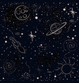 seamless cosmic pattern with stars vector image