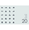 Set of ships and boats icons vector image