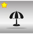 beach umbrella black icon button logo symbol vector image