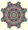 beautiful vintage circular pattern of arabesques vector image