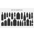 25 isolated shapes of bottles vector image vector image
