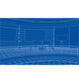 3d outline interior rendering of 3d vector image vector image