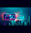 5g high speed network communication internet on vector image vector image