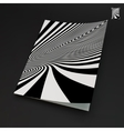 A4 business blank Black and white abstract vector image vector image