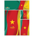 abstract cameroon flag background vector image vector image