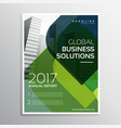 abstract green curve shape business brochure vector image vector image