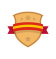 badge knight icon flat style vector image