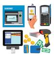 bankomat and terminal vector image vector image