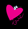 beautiful lovers mouse with heart vector image vector image