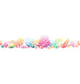 border pattern with multicolor corals vector image vector image