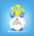 box of new year gift merry christmas text vector image