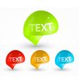 Bright Speech Bubble Design vector image vector image