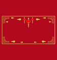 chinese new year red background design vector image