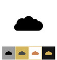 cloud icon bubbles clouds shapes vector image vector image