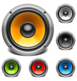 Color audio speakers vector image vector image