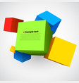 colorful three dimensions cubes vector image vector image