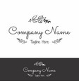 company logo with botanical flowers vector image vector image