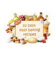 cooking blog with ingredients vector image vector image