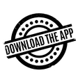 Download The App rubber stamp vector image vector image
