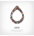 drop people symbol vector image vector image