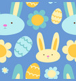 easter seamless pattern background retro vintage vector image vector image
